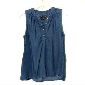 Tommy Bahama Tencel chambray button front top